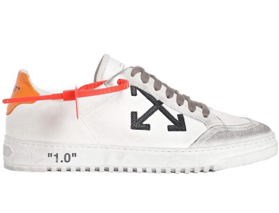 Orange OW low top sneakers