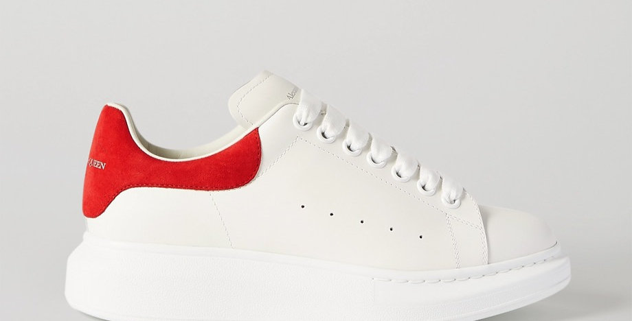 Red suede exaggerated-Sole Sneakers