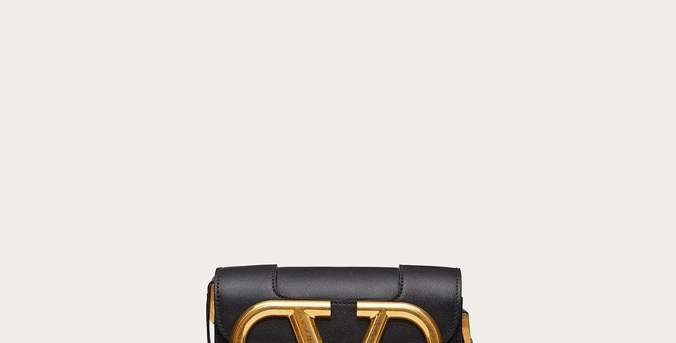 Small VS black leather crossbody bag