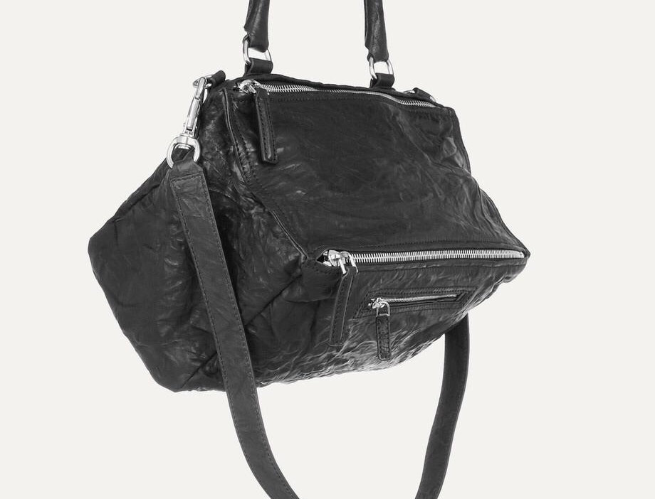 Medium GP washed-leather shoulder bag