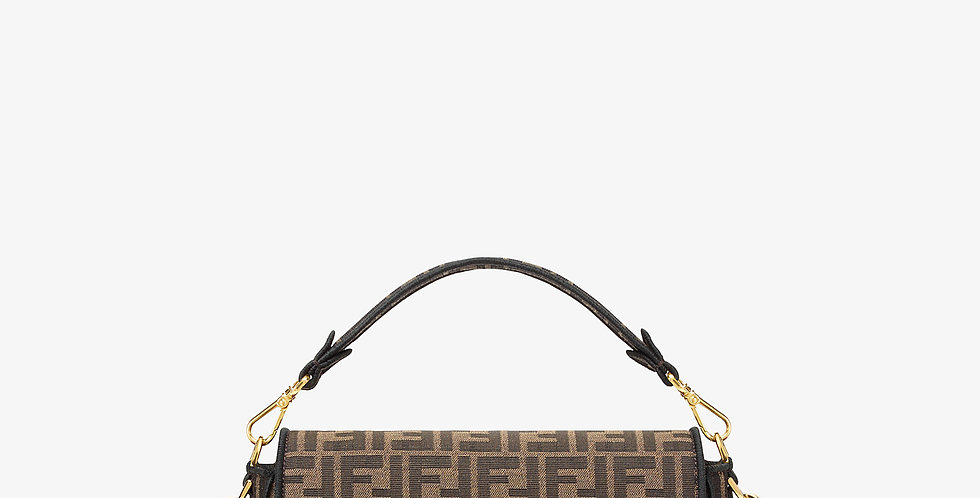 Medium FB brown fabric bag
