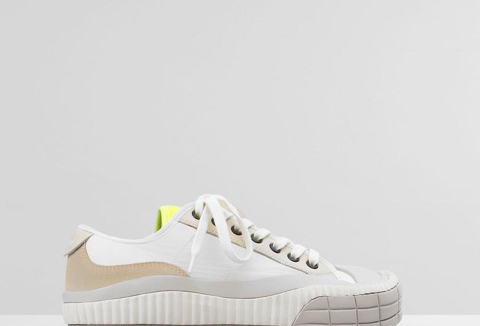 White C low-top sneaker