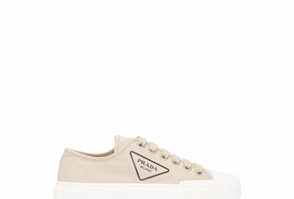 Cord cotton canvas sneakers