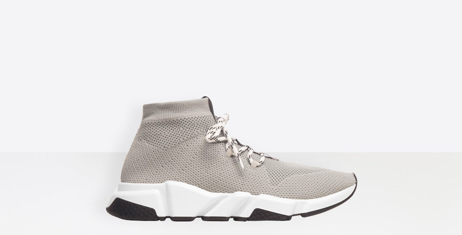 Gray BS lace-up sneaker