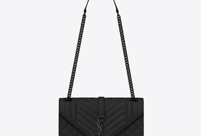 Black envelope medium bag