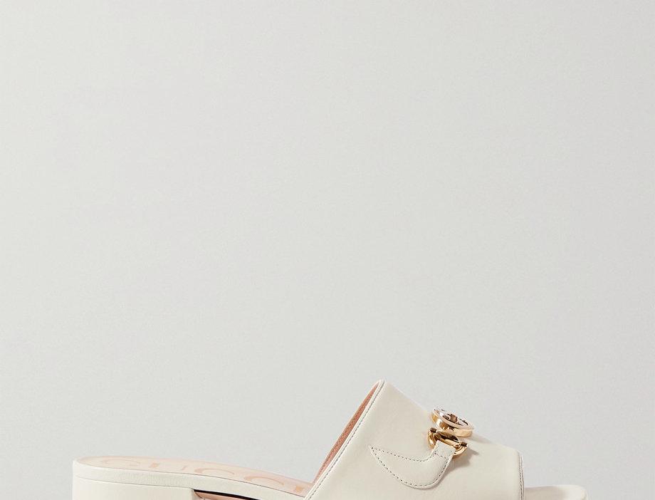 GZ embellished leather mules