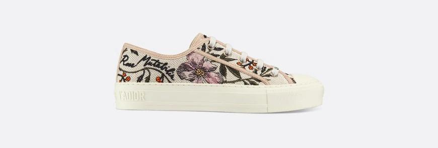 Rosa Mutabilis embroidery Walk'n'D sneaker
