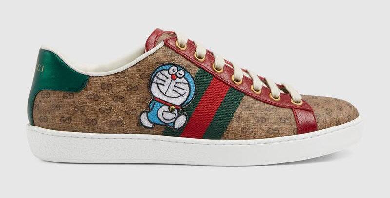 Beige/ebony Ace sneaker