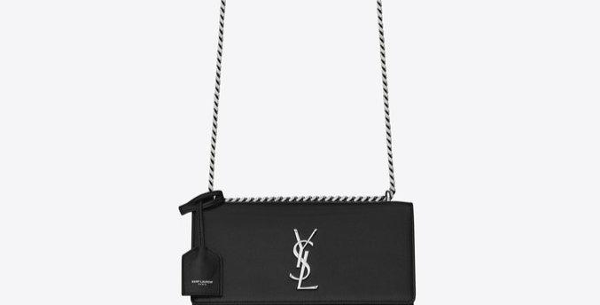 Black S medium in silver metal bag