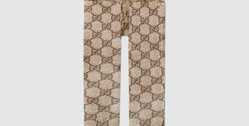 Beige/ebony pattern tights