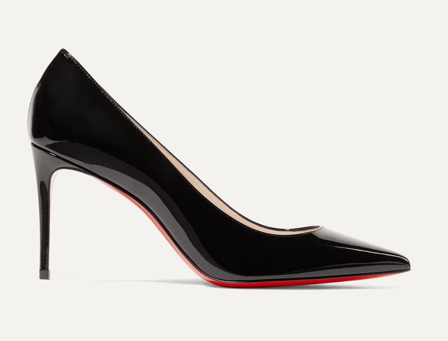 CLK 85 black patent-leather pumps