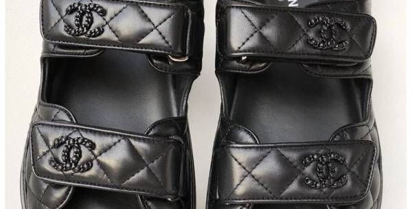 Black CD sandals