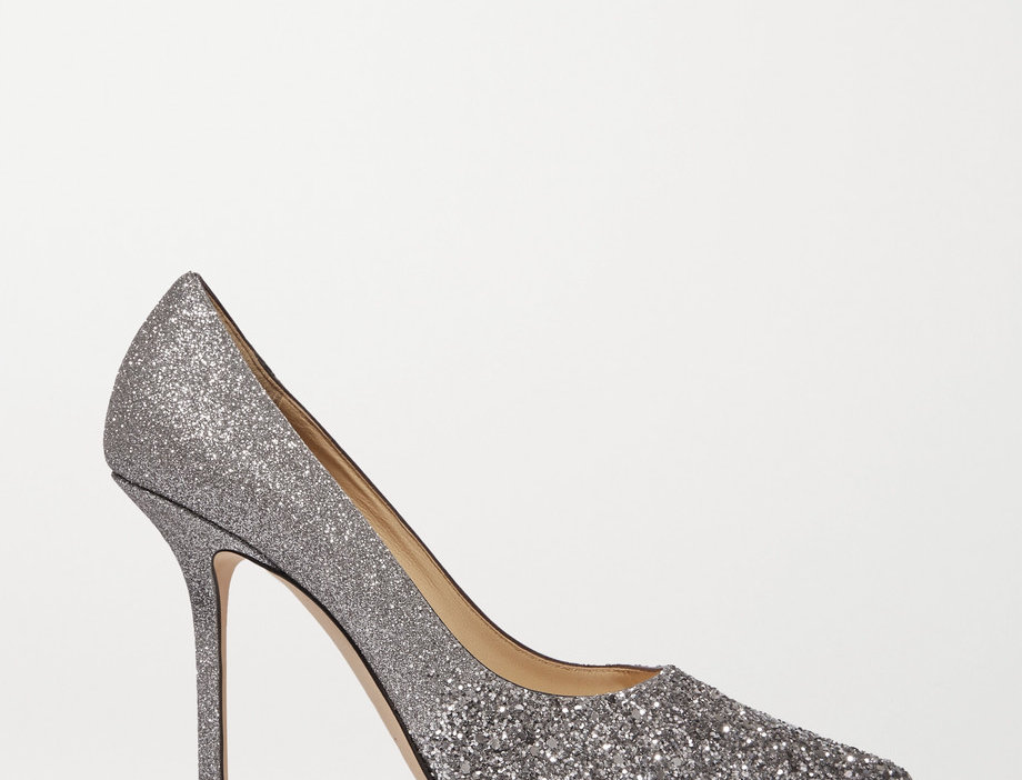 JCL 85 glittered leather pumps