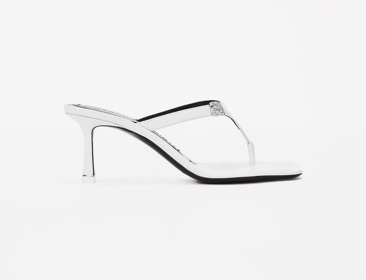 White RI thong sandal