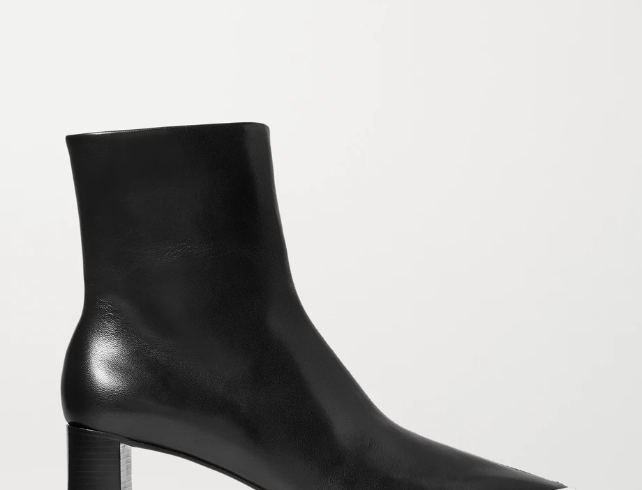 Black AM ankle boots
