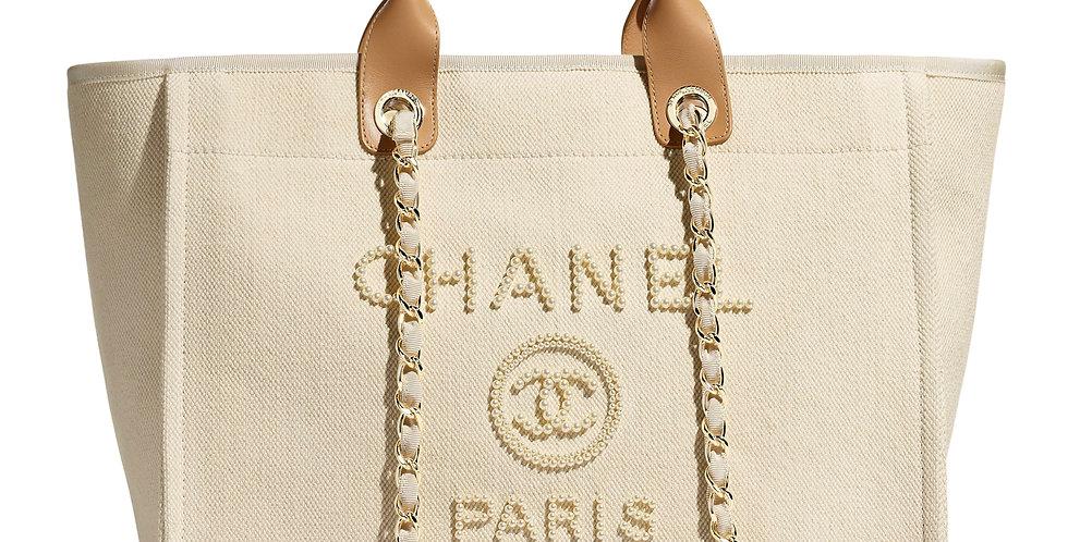 CC Ecru & Beige shopping bag