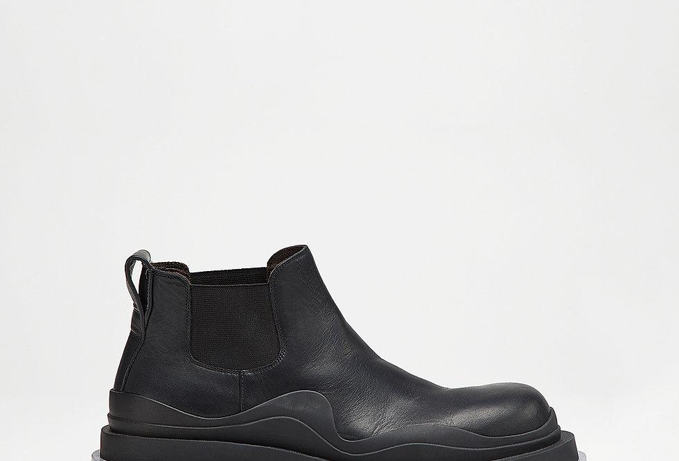 Black transparent low tire boots