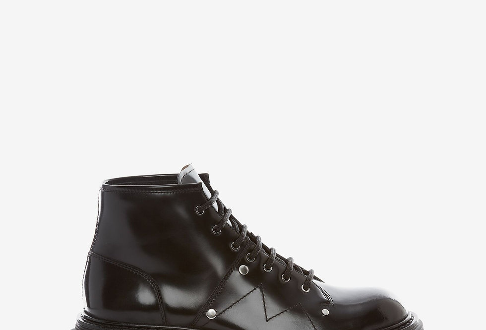Black MT lace up ankel boot