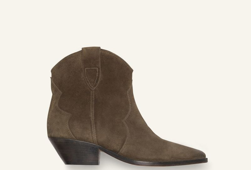 Dark brown ID ankel boots