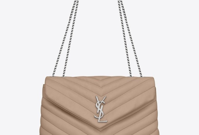 Beige Loulou medium bag with silver hardware