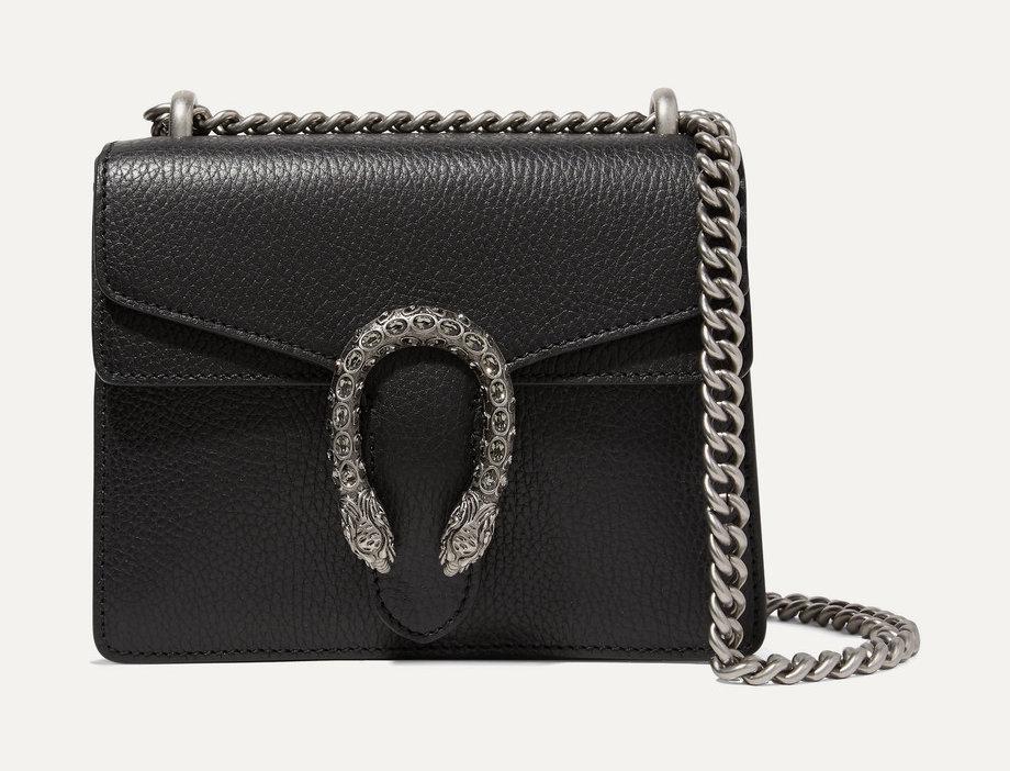 GD mini textured-leather shoulder bag