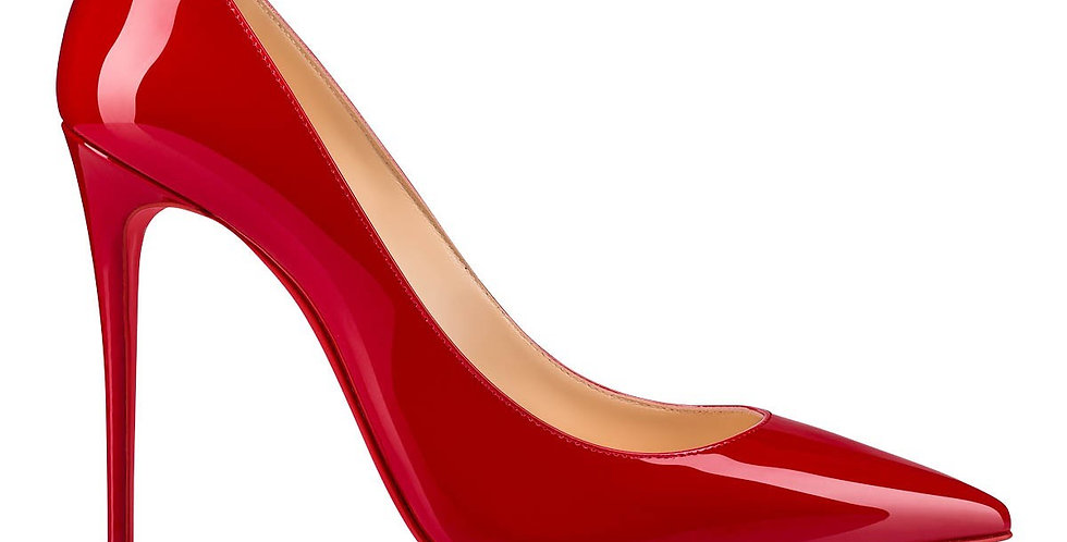 CLK 100 red patent-leather pumps