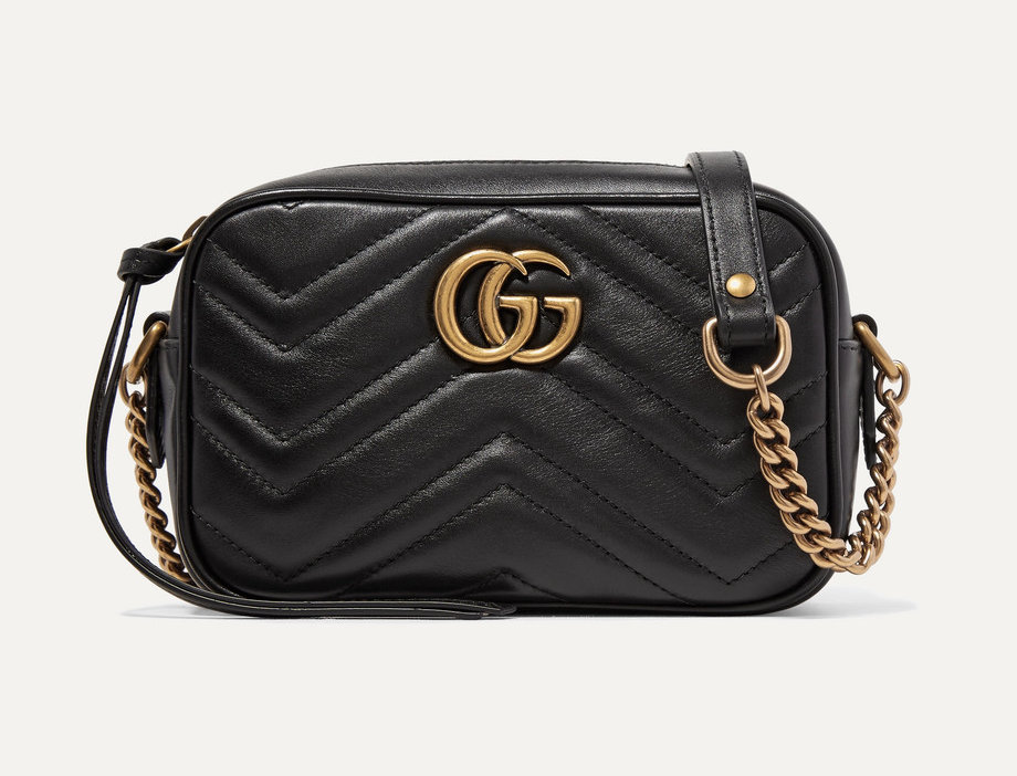 GM Camera mini quilted leather shoulder bag