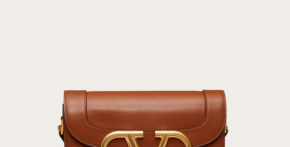 Brown VS leather crossbody bag
