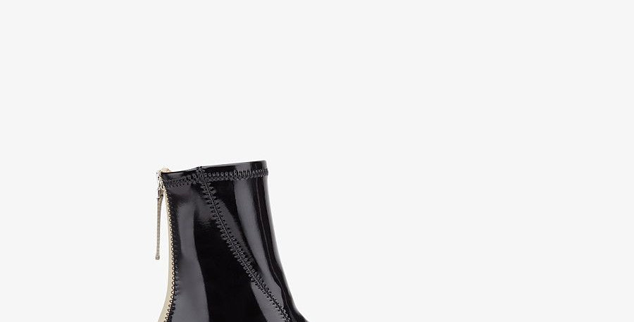 Glossy black FN low ankle boots