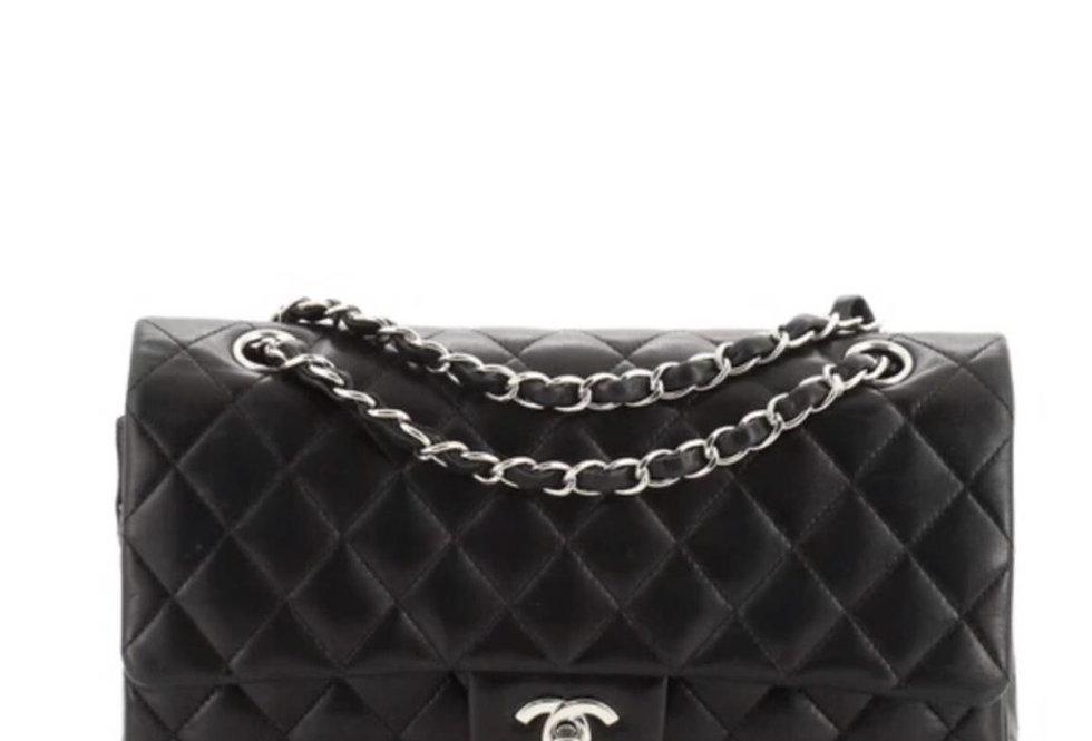 Black classic C handbag with silver-tone metal