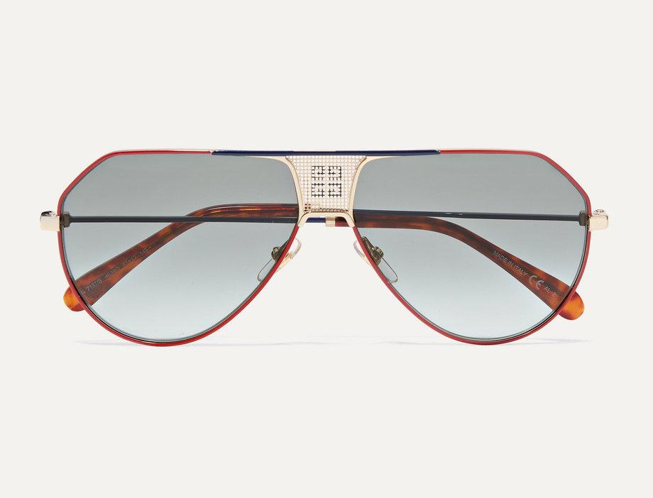 Oversized Aviator-Style Sunglasses
