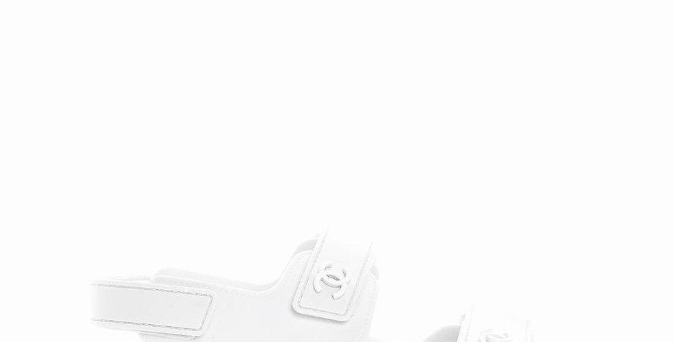 CV white sandals