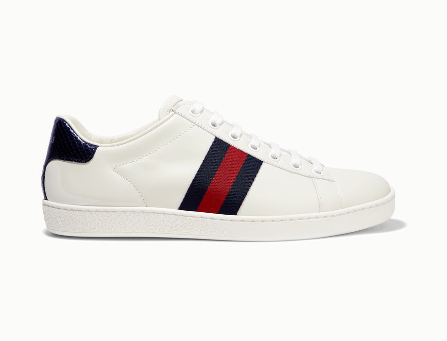 GA  coated-canvas sneakers