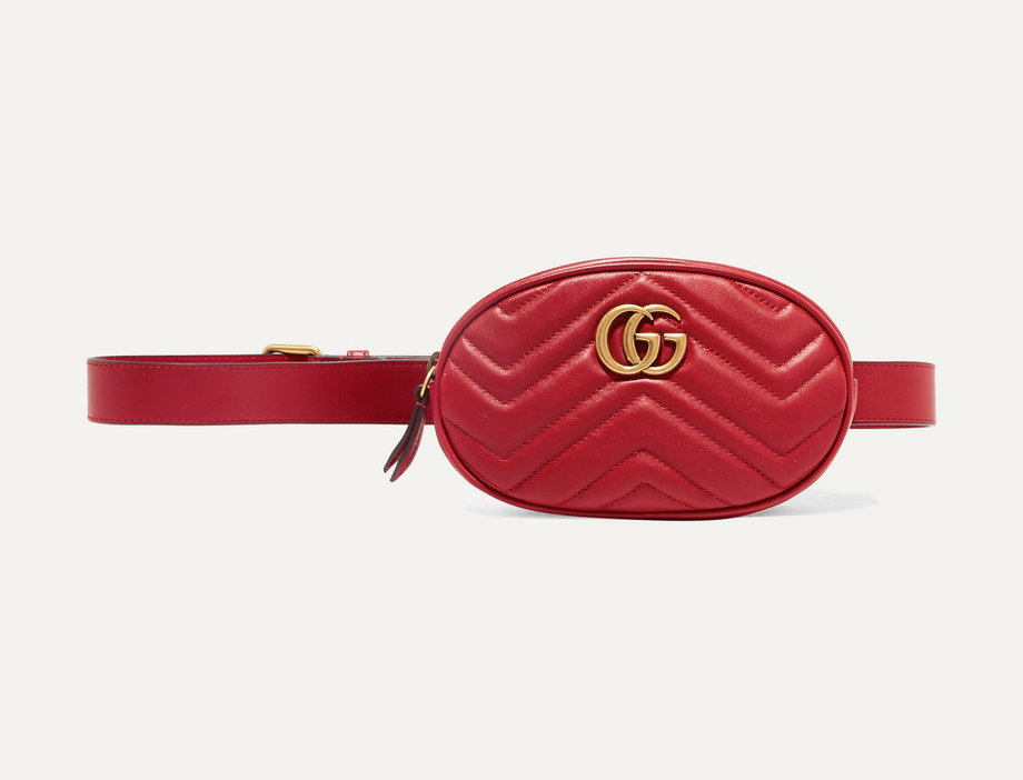 GM quilted leather belt bag