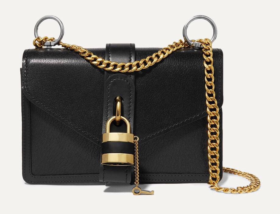 CA Chain leather shoulder bag