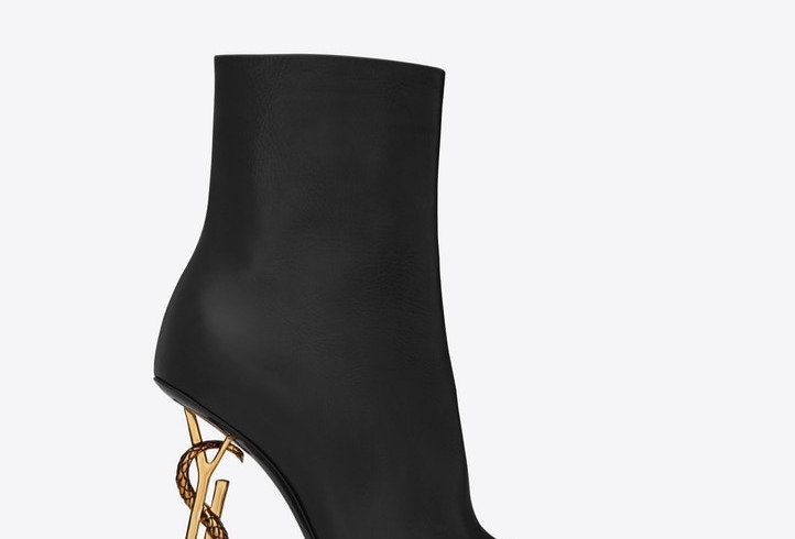 SLO ankle boots with bronze snake heel