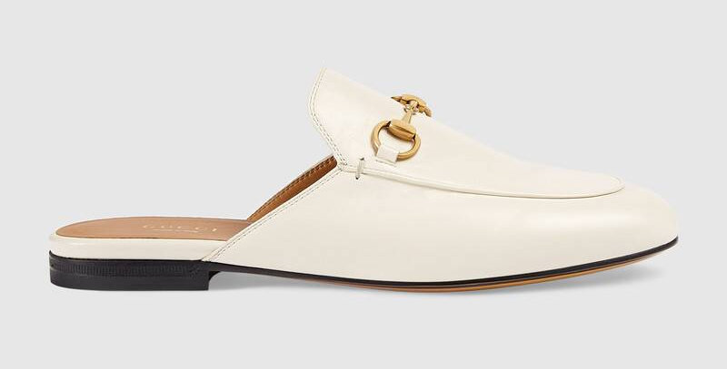 White GP leather slippers