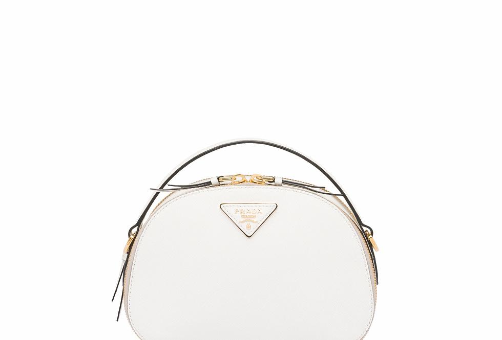 White PO crossbody bag