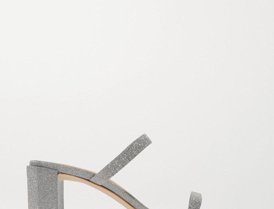 BFT glitter-embellished mules