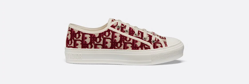 WN sneaker in oblique embroidered canvas