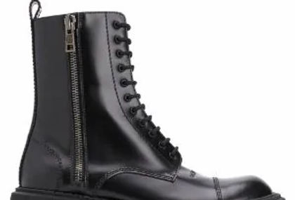 Black B tractor 20 mm lace-up boots