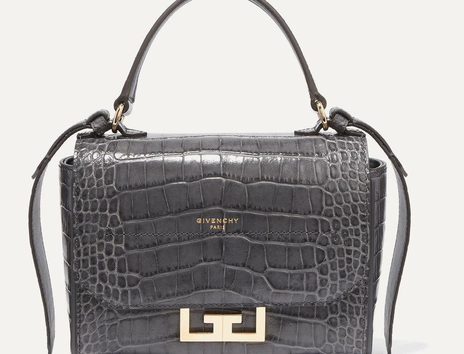 GE mini croc-effect leather shoulder bag