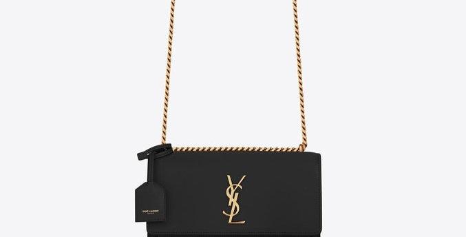 Black S medium in gold metal bag