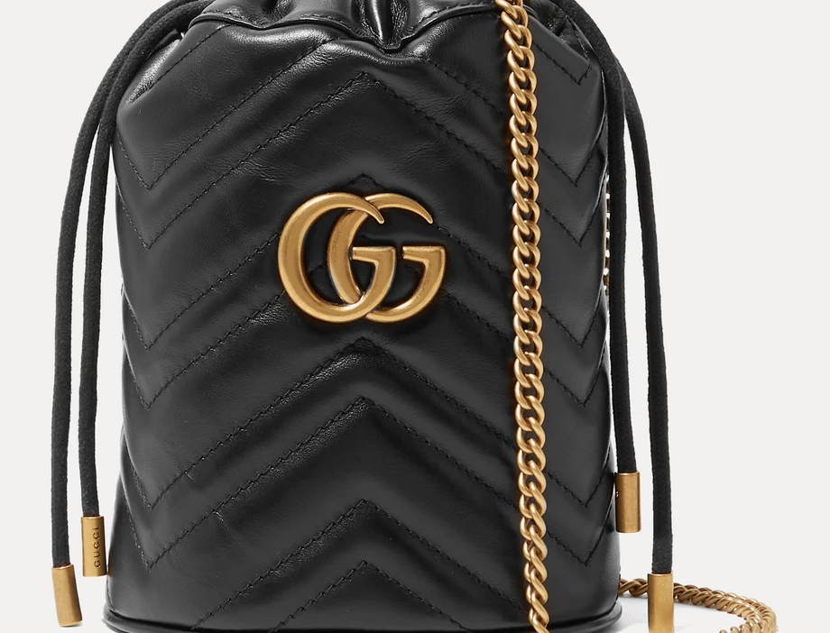 GM mini quilted leather bucket bag