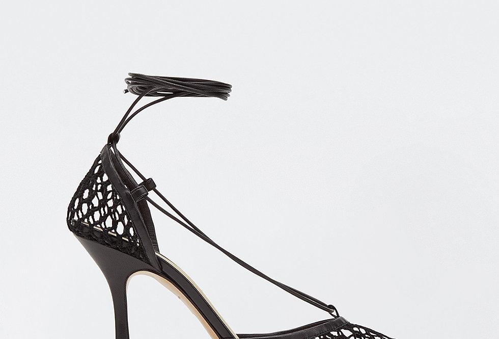 Black BS mesh sandals