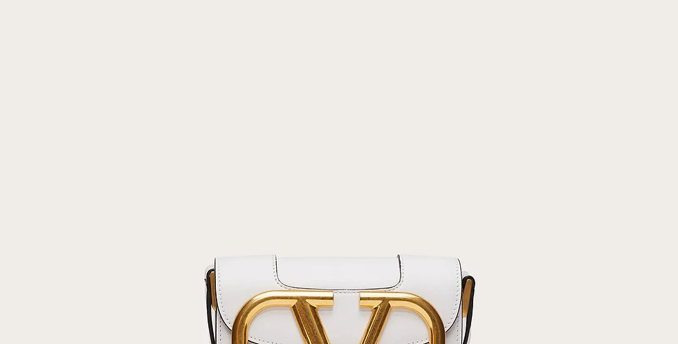 Small VS white leather crossbody bag