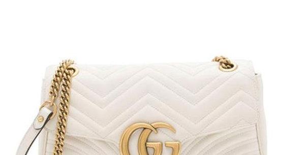 White GM medium shoulder bag