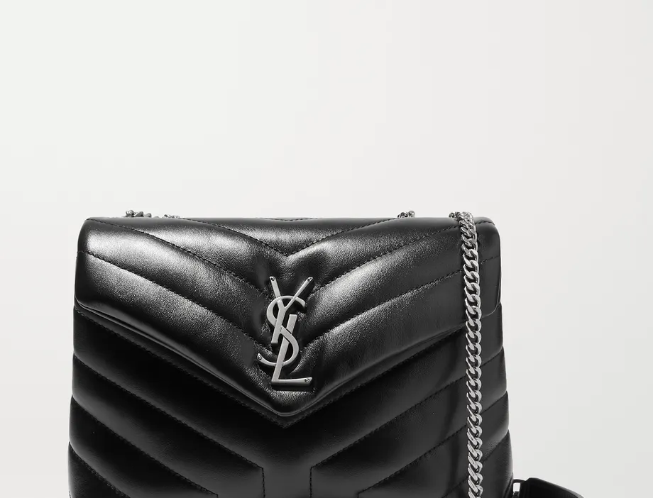 Black YL small quilted leather shoulder bag