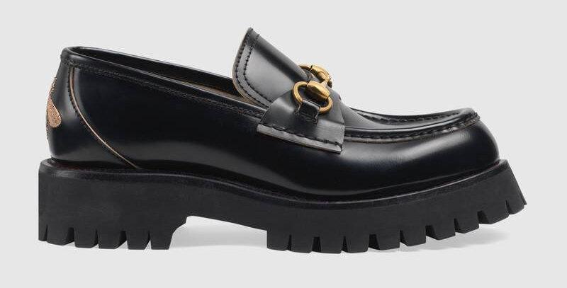 Black Lug sole loafer