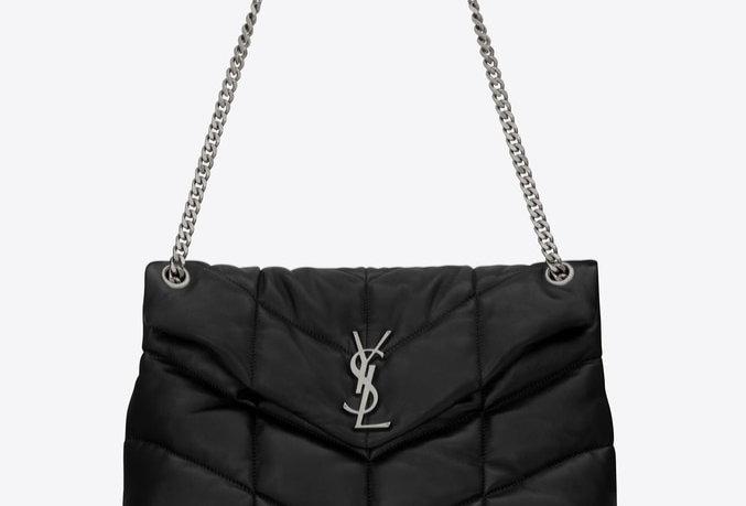 Black LP medium bag in quilted leather
